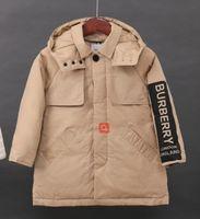 kızlar ceket aşağı çocuklar ceket toptan satış-Yastıklı Çocuk Giyim Boys Kız Sıcak Kış Down Coat Kalınlaşma Kabanlar Aşağı üst nakliye yeni BU Çocuk Kış Ceketler% 90 ördek