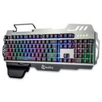 ingrosso tastiere di gioco trasporto libero-7pin Standing 104 Keys Gaming Tastiera Membrande con retroilluminazione colorata per Mac OS / Linux / Windows Gamer Keyboard PK900 Spedizione gratuita BA
