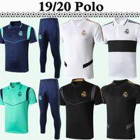 gri pantolon takımları toptan satış-19 20 Real Madrid Polo Futbol Gömlek Seti Yeni Polo MARIANO BENZEMA Modric MARCELO Kırmızı Siyah Gri Beyaz Takım Elbise Futbol Formalar pantolon üstü