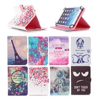 Wholesale cartoon inch tablet resale online - Cartoon Printed Universal inch Tablet Case for Amazon Fire HD Cases kickstand PU Leather Flip Cover Case
