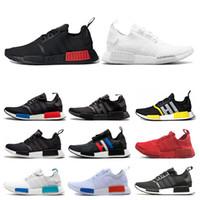 ingrosso misure delle scarpe giappone-adidas nmd R1 Giappone triple bianco nero scarpe da corsa allevati Og crema Oreo camo mens scarpe da ginnastica donna sport sneakers taglia 36-45