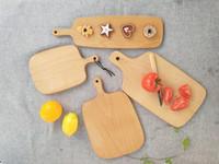 corte de tabla al por mayor-Tablas de cortar de madera Plato de fruta Bloques de cortar de madera enteros Haya Hornear Herramienta de tablero de pan Sin agrietamiento Deformación 25hn4 D1