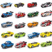 kağıt model binalar toptan satış-Sembo Lot Uyumlu LeSet Teknik Voiture Şampiyonu Araba Yarışı Sembo Yapı Diamon Nano Blokları Tuğla Porsches Doğum Günü Hediyesi