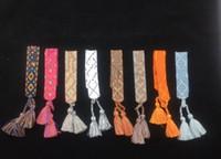 glands livraison gratuite achat en gros de-Top qualité corde matériel bracelet avec des mots de couture et gland célèbre marque bijoux cadeau livraison gratuite PS6230