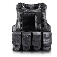 ingrosso attrezzature paintball-Caccia del camuffamento Airsoft di caccia Vest Mens Bulletproof Army Cs Paintball Army Tactical attrezzature Chalecos combattimento Gear Gilet