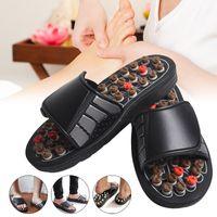 zapatillas de masaje caliente al por mayor-Hot Acu-Point Slippers Accupressure Massage Foot Massager Flip Flop Sandalias para Mujeres Hombres hh88