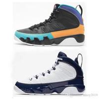 кд обувь размер мужчины пасхальные оптовых-9 2019 мечта всячески препятствовать его сделать это в формате UNC баскетбол Мужская обувь белый ретро Ретро полночь темно-синий университет 9С 9С спортивная кроссовки размер 7-13