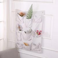 grandes sacos de armazenamento pendurado venda por atacado-Pano Art Storage Bag Prédio pano Receber Box Hanging Bag Cotton serapilheira Hanging Wall Large Storage Bag Cube 19