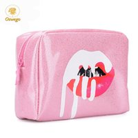 Wholesale large makeup cases zippers for sale - Group buy Oswego Makeup Bag Women Cosmetic Tote Bag Zipper Fashion Large PU Storage Bag Ladies Travel Organizer Women Make up Cases