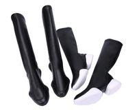 spor ayakkabıları toptan satış-Büyük boy 45 Severler Moda Diz Yüksek Sneaker Çizmeler Sıkı Deri Tırnak Topuklar Rahat Uzun Patik Unisex Ayakkabı Üzerinde Kayma