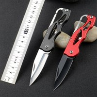 Wholesale self defense multi tool online - Fold Pare peel Pocket Knife Carabiner outdoor Box Blade camp Open Hang multi tool quickdraw clip Package self care survive