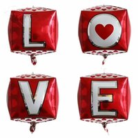 folha de balão de valentim venda por atacado-Wedding 50pcs carta de amor 4D Foil Balloon Aniversário Sexy Photo Props Big White Hot Red amo balões Valentines Decoração do partido