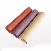 ingrosso lenzuola organiche-Stuoia naturale di yoga della natura della stuoia di yoga della stuoia di yoga della iuta organica di trasporto libero spessore caldo 6mm materiale di lino 183 * 61cm