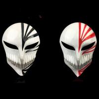 ingrosso reaper cosplay-Grim Reaper Masks Halloween Kurosaki Ichigo PVC per il costume Party cosplay dipinto a mano Masques Natale Masquerade adulto viso pieno Make Up