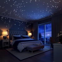 Wholesale decoration small stickers resale online - Moon Night Glow In The Dark Fluorescent Wall Sticker Removable Kid Room Wall Decals Bed Room Decoration Walls Decor
