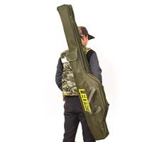 Wholesale multi fishing rod bags resale online - LEO Fishing Bag cm cm Multi purpose Foldable Fishing Rod Reel Bags Gear Storage Bags Case Holder Gear