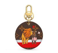 Wholesale electronic xmas gifts for sale - Group buy M63750 XMAS ANIMALS ANIMAL BAG AND KEYCHAIN Key Holders and More Leather Bracelets Chromatic Bag Charm and Key Holder Scarves Belts Gift