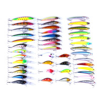 Wholesale china jigging lures resale online - 43pcs Fly Fishing Lure Set China Hard Bait Jia Lure Wobbler Carp Models Fishing Tackle