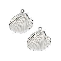 ювелирные изделия оптовых-Sea Shell Shape stainless steel Pendants Charms Jewelry Making Supplies 20pcs/lot