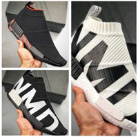 Wholesale Mens Women NMD Sock City Mid Roller Shoes Without Box