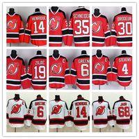 07de34184 Mens New Jersey Devils Hockey Jersey 30 Martin Brodeur 35 Cory Schneider 9  Taylor Hall 6 Andy Greene Adam Henrique Scott Stevens Jersey