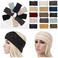 Wholesale red accessories for women online - 21 color Knitted Crochet Twist Headband Turban Winter Ear Warmer Headwrap Elastic Hair Band for Women Hair Accessories KKA6332