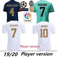 uniform hemden für männer verkauf großhandel-Spielerversion Real Madrid 2019 # 23 # HAZARD # 9 BENZEMA Heimtrikots 19/20 Herren Spielerversion Fußballtrikots Sportuniformen Reduziert