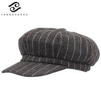 Yangdoudou Artist Painter Hats Retro Newsboy Cap Autumn Winter Octagonal Caps  For Women Men Female Male Vintage 00f83c155c19
