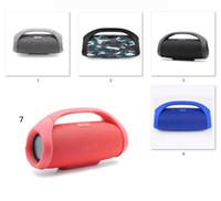 taşınabilir bombox toptan satış-Mini Boom Kutusu HIFI Bas Sütun Hoparlör Kablosuz Bluetooth Hoparlör Boombox Bluetooth Kablosuz Taşınabilir Hoparlör Stereo Ses perakende kutusu