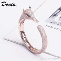 Wholesale donia for sale - Group buy Donia jewelry party Rose Gold Jewelry Bracelet Micro Inlay Zircon Leopard Adjustable Bracelet Personality Domineering Animal Bracelet