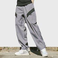 baggy jogging harem pants men toptan satış-2019 Harajuku Kalça Kalça Pantolon Streetwear Japon Erkekler Baggy Jogging Yapan Pantolon Japonya Tarzı Giyim Hipster Pantolon Yaz Bahar Pantolon