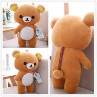 Wholesale rilakkuma stuff toy for sale - Group buy 35cm cm Hot Selling Kawaii Big Size Brown Rilakkuma Bear Plush Toy Soft Stuffed Bear Doll Y200111
