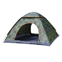 Wholesale camouflage sun shade resale online - Camping Tent Backpacking Tents Portable Waterproof Hiking Tent Anti UV Person Folding Automatic Pop Up Open Sun Shade Ultra