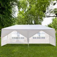 10x20Ft Outdoor Patio Wedding Tent 6 Window Walls Zipper Door Canopy Party Heavy Duty 3x6m Waterproof Gazebo Pavilion Cater Events