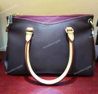 классическая сумочка оптовых-Оптовые женские сумки из натуральной кожи Pallas 41064 с ремешком Классический дизайн Tote Lady Модная сумка через плечо 34см Больше цветов