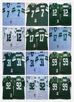 futebol ncaa venda por atacado-Vintage Philadelphia 12 CUNNINGHAM Football Jersey Águia 92 R.WHITE # 7 JAWORSKI 17 CARMICHAEL 99 BROWN 59 JOYNER NCAA Throwback Jersey
