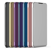 Wholesale honor view flip cover for sale – best Mirror Phone Case for Honor X Max Case Flip Stand Clear View Smart Mirror Cover Window Smart Cover