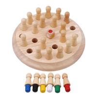 jogo de xadrez para crianças venda por atacado-Crianças jogo de xadrez vara jogo de memória de madeira crianças cedo brinquedo educacional 3d festa da família jogo casual puzzles jogo de memória
