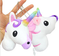 Wholesale Newest Arrivals Hot Babies Unicorn Horse Keychain Keyring Bag Charm Pendant Color Lovely Small Pendant