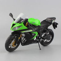 kawasaki zx 14 toptan satış-1:12 Ölçekli Mini Kawasaki Ninja Zx-6r Spor Bisiklet Metal Motosiklet Diecast Spor Yol Yarış Modeli Koleksiyonu Araba Oyuncak Çocuklar Için J190525