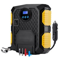 компрессор давления в шинах оптовых-Electric Auto Car Air Compressor Pump 12V Portable Tire Inflator with LED Light Digital Pressure Gauge for 12V Cars