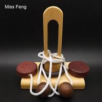corda de brinquedos para adultos venda por atacado-T007 / Single Column Block 3D Corda Corda Enigma Cérebro Teaser Toy Game Para Adultos E Caçoa o Presente