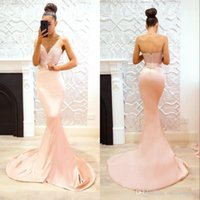 Wholesale silk lace mermaid wedding dresses resale online - Elegant Pearl Pink Sweetheart Lace Mermaid Cheap Long Bridesmaid Dresses Maid of Honor Wedding Guest Dress Prom Party Gowns