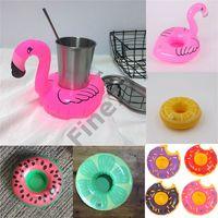 banyo oyuncak tutacağı toptan satış-Sıcak Satış Şişme Flamingo İçecekler Bardak Tutucu Havuz Yüzen Bar Bardak Yüzdürme Cihazları Çocuk Banyo Oyuncak küçük boy