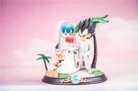 boda de dragon ball al por mayor-Dragon Ball Vegeta Bulma Boda Anime Figura Coleccionable Moble Juguetes calientes Cumpleaños Regalos Muñeca Nuevo Arrvial Venta caliente PVC Envío gratis