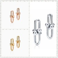 SHINETUNG Original 100% S925 HardWear SeriesLink Trendy Earrings Women Logo Fine Luxury High-End Jewelry CX200606