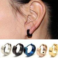 ingrosso i monili di costume degli orecchini del cerchio-Orecchini a bottone di design di lusso gioielli Mens Cool in acciaio inox Orecchini a cerchio Orecchini a cerchio Orecchini a forma di favore DHL HH9-2201
