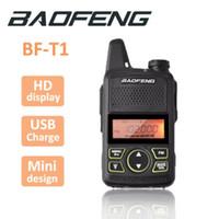 mini walkie talkie baofeng toptan satış-100% Orijinal BAOFENG BF-T1 MINI Walkie Talkie UHF 400-470 MHz Taşınabilir T1 İki Yönlü Radyo Jambon Radyo Amador Mikro USB Alıcı-verici