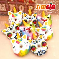 Wholesale antistress toys for sale - Group buy Colorful Donut Squishy Donut CM Big Jumbo Squishy Slow Rising Doughnut Squeeze Fun Toy for Kids Antistress Toys