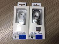 galaxy cable perakende kutusu toptan satış-1.5 m Siyah Beyaz Mikro USB Hızlı Şarj Kablosu Data Sync Şarj Samsung Galaxy S6 s7edge Not perakende kutusu Ile 4 5 S4 S3